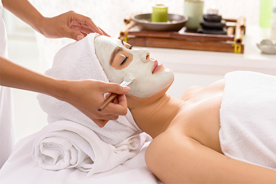 Acne skin facials
