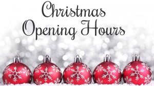 SOS Christmas Opening Times