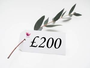 £200 SOS gift voucher