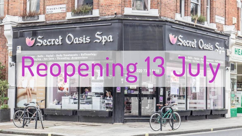 Reopening Monday 13 July!