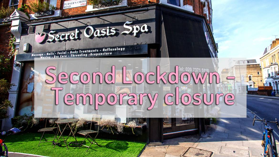 Temporary closure due to second lockdown